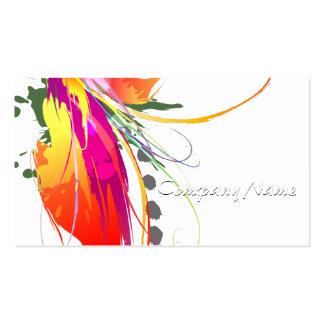 Abstrakter Paradiesvogel Farben-Spritzer