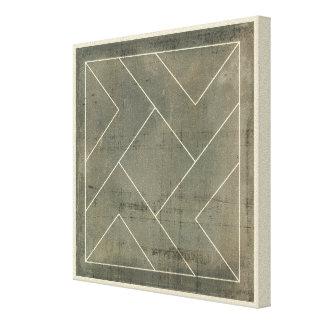 Abstrakter Plan mit geometrischen Formen Leinwanddruck