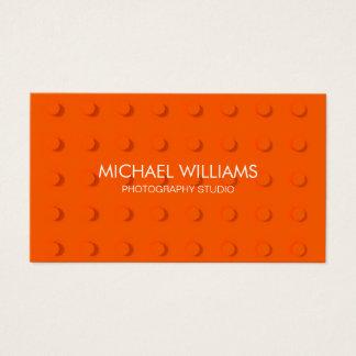 Abstrakter Professioneller Plastische Apfelsine Visitenkarte