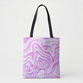 Abstrakter rosa Strudel-Entwurf Tasche