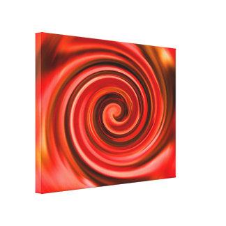 Abstrakter roter und gelber Wirbel Leinwanddruck