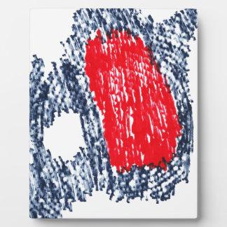 Abstrakter Schädel Fotoplatte