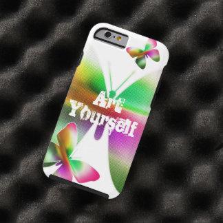 Abstrakter Schmetterling bunt Tough iPhone 6 Hülle