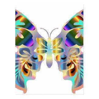 Abstrakter Schmetterling Postkarte