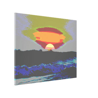 """Abstrakter Sonnenuntergang"""" Galerie-Leinwand Leinwanddrucke"""