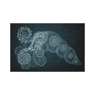 abstrakter StahlTintenfisch 11 x 17 Leinwanddruck