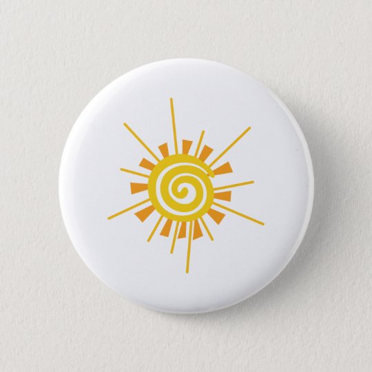 Abstrakter Sun Runder Button 5,1 Cm