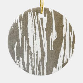 Abstrakter Taupe-Spritzen-Entwurf Keramik Ornament
