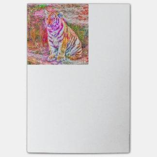 Abstrakter Tier-gemalter junger Tiger Post-it Klebezettel