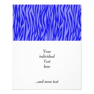 abstrakter Tierdruck, blau 11,4 X 14,2 Cm Flyer