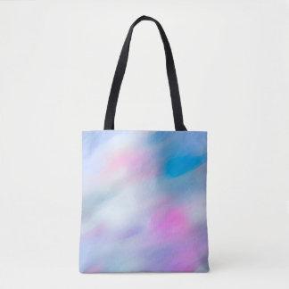 Abstrakter WelleWatercolor Mehrfarben Tasche