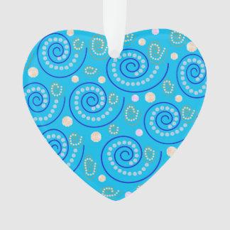 Abstrakter Wirbel auf Blau Ornament