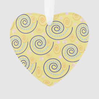Abstrakter Wirbel auf Gelb Ornament