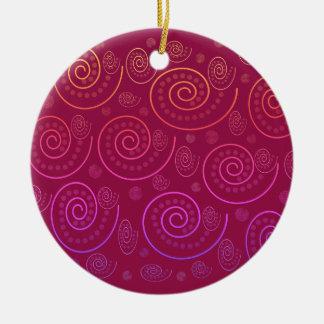 Abstrakter Wirbel Keramik Ornament