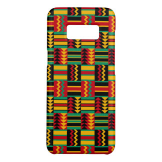 Abstraktes Afrikaner Kente Stoff-Muster-rotes Gelb Case-Mate Samsung Galaxy S8 Hülle