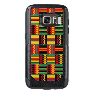Abstraktes Afrikaner Kente Stoff-Muster-rotes Gelb OtterBox Samsung Galaxy S7 Hülle