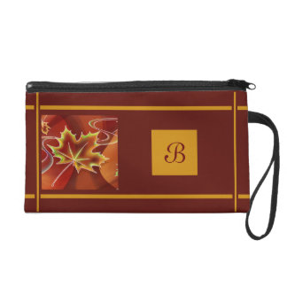Abstraktes Ahorn-Blatt Wristlet Handtasche