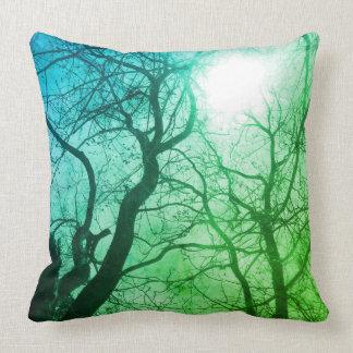 Abstraktes Baumgrün-Dekorkissen Kissen