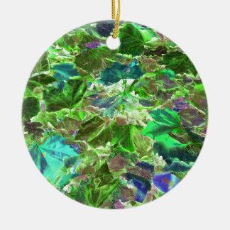 Abstraktes Blätter-Natur-Muster Keramik Ornament