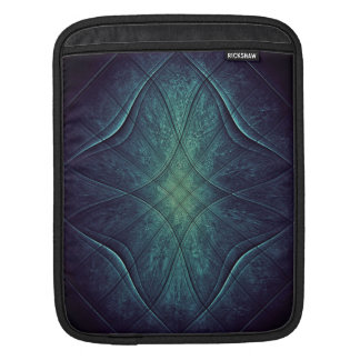 Abstraktes blaues Grün-Muster iPad Sleeve