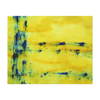 Abstraktes Blaues und Gelb 1 Leinwanddrucke