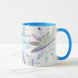 Abstraktes Blumen - 11-Unze-kombinierte Tasse