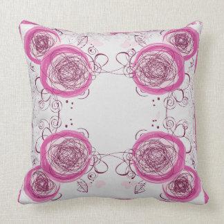 abstraktes Blumenmusterkissen Kissen