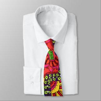 Abstraktes buntes Boho Gekritzel, das Graffiti Krawatte