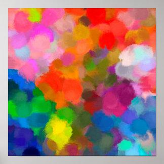 Abstraktes buntes Farbe Brushstrokesplakat Poster