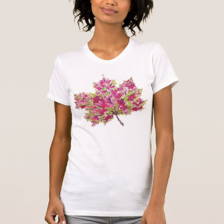 Abstraktes buntes Watercolor-Herbst-Blatt T-Shirt
