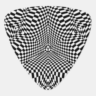 Abstraktes checkered Schwarzweiss-Muster Plektron
