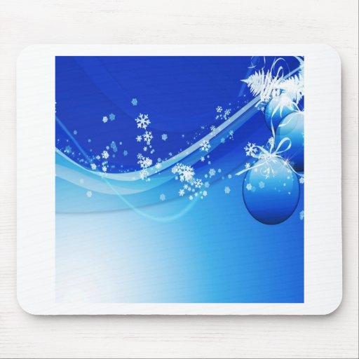 Abstraktes cooles Blau Bobbles Mauspads