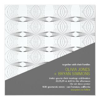 Abstraktes cooles moderne Kunst-Mod schellt Quadratische 13,3 Cm Einladungskarte
