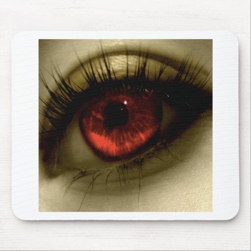 Abstraktes cooles rotes Auge Mauspads