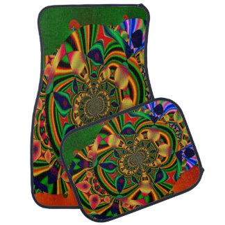 Abstraktes dekoratives MehrfarbenSet von 4 Automatte