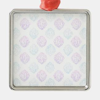 Abstraktes einfaches quadratisches silberfarbenes ornament