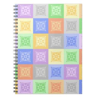 Abstraktes Entwurfsnotizbuch Spiral Notizblock