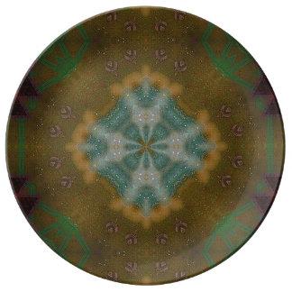 Abstraktes - Erdtöne - dekoratives Porzellan Teller