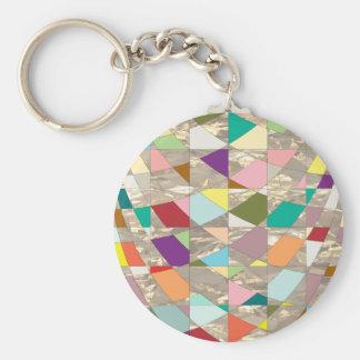 Abstraktes Farbgold Schlüsselanhänger