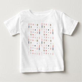 Abstraktes Formmuster in den Pastellfarben Baby T-shirt