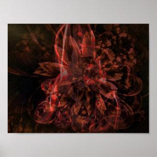 Abstraktes Fraktal-Plakat Poster