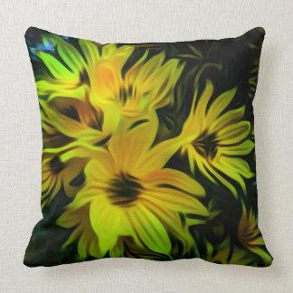 Abstraktes gelbes Blume Throwkissen Kissen