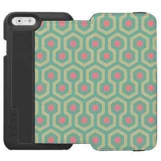 Abstraktes geometrisches Bienenstock-Muster Incipio Watson™ iPhone 6 Geldbörsen Hülle