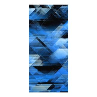 Abstraktes geometrisches Blau Werbekarte