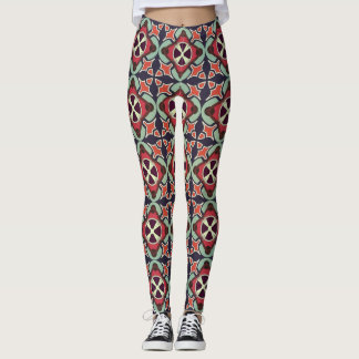 Abstraktes geometrisches retro nahtloses Muster Leggings