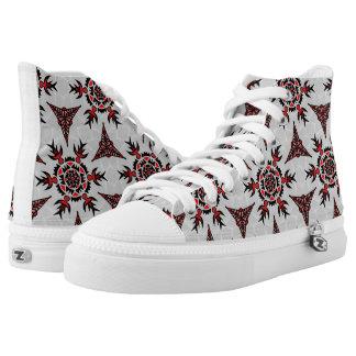 Abstraktes geometrisches Tatto mögen Muster Hoch-geschnittene Sneaker