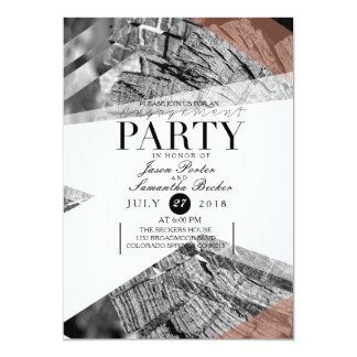 Abstraktes geometrisches Verlobungs-Party| 12,7 X 17,8 Cm Einladungskarte