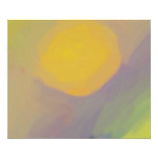 Abstraktes goldenes Sun-Plakat (24x20) Kunstfoto