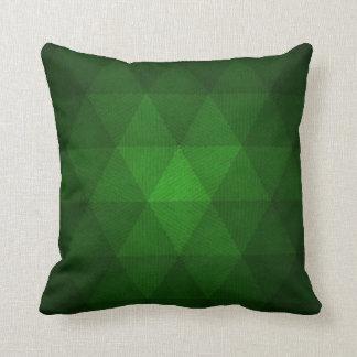 Abstraktes grünes Dreieckkissen Kissen