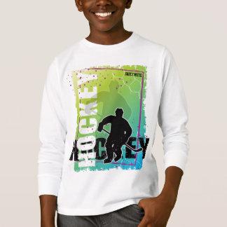 Abstraktes Hockey (Junge) T-Shirt
